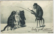 Monkey teacher metaphor, posted England 1903